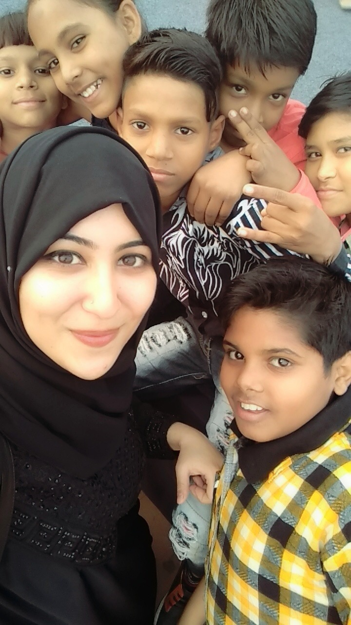 Sana with the Children